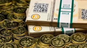 Bitcoins em dinheiro