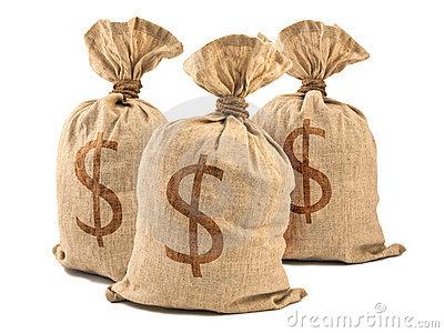 Imagem de sacos de dinheiro