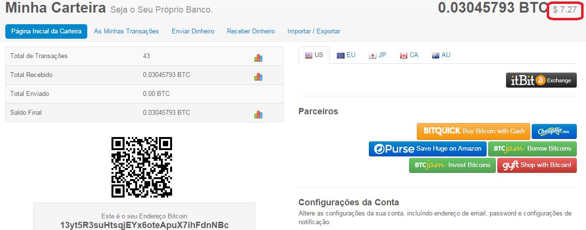 tranformar bitcoin em dinheiro 0