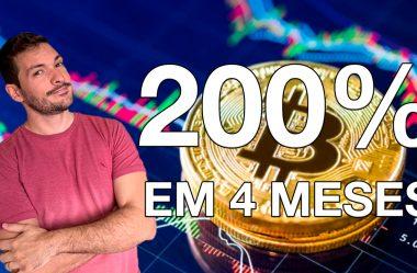 Bitcoin 200% em 4 meses